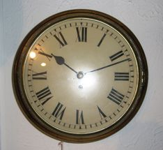 Wall  Clocks Circa 1840 Fusee Timepiece Dial Clock image #1