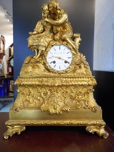 Mantel Clocks Early 19th Century Ormolu French Strike image #1