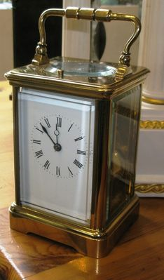 Carriage Clocks Late 19th Century Eight Day French Strike Repeat image #1