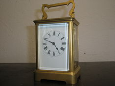 Carriage Clocks Mid 19th Century French Eight Day Carriage Strike image #1