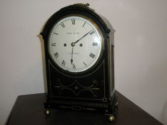 Bracket Clocks  Regency Brass Inlaid Ebonised Bracket Clock image #1