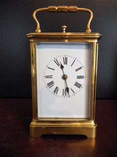 Carriage Clocks Circa 1860 French repeating carriage clock in a corniche styled case image #1