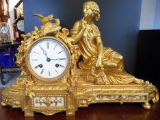 Mantel Clocks Circa 1820 Classical French Ormolu Strike image #1