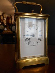 Carriage Clocks Circa 1860 French Repeating Strike image #1