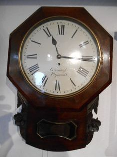 Wall  Clocks Late 18th Century Drop Dial Fusee Wall Timepiece image #1