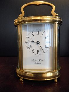 Carriage Clocks Early 20th Century Oval Carriage Timepiece image #1