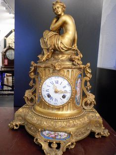 Mantel Clocks Eight Day French Ormolu Strike Circa 1850 image #1