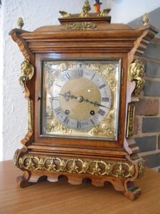 Mantel Clocks Circa 1890 German Eight Day Quarter Chime Strike image #1