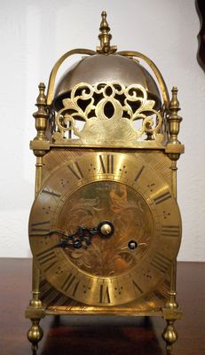 Mantel Clocks Sorley of Glasgow Eight Day Strike Lantern Clock image #1